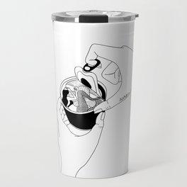 canned mermaid Travel Mug