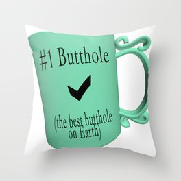 Number One Butthole Throw Pillow