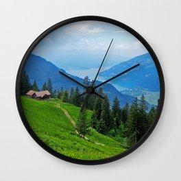 Above Interlaken Wall Clock