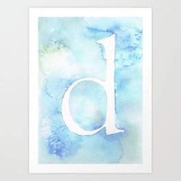 d watercolor Art Print