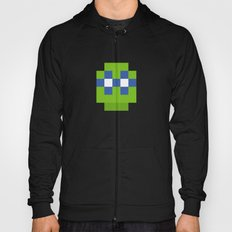 hero pixel green blue Hoody