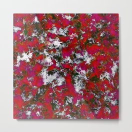 Snow and red Metal Print