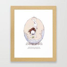 ee cummings - Milly Framed Art Print