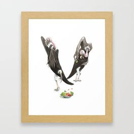 V is for Vultures who don't eat their Veggies! Watercolor ABC Animals - Laugh-A-Bit Alphabet Framed Art Print