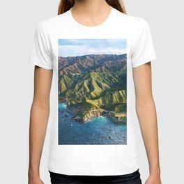 Pacific Coast Highway, Coastal California Santa Lucia Mountains landscape painting T-shirt