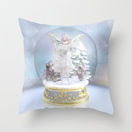 Captured in Frost Throw Pillow