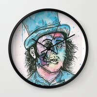 willy wonka Wall Clocks featuring Wonka by Paul Granese
