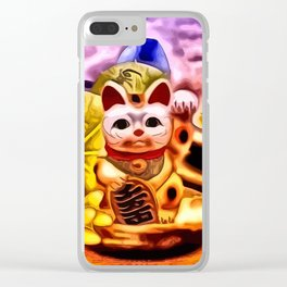 Glückskatze Clear iPhone Case