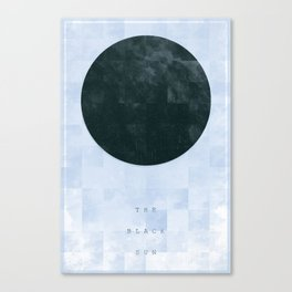 black sun Canvas Print