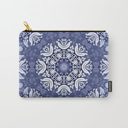Blue snow pattern Carry-All Pouch