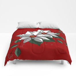 Holiday Flowers Comforters