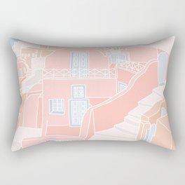 Santorini Greece Rectangular Pillow