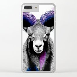 Electric Ram - Dreamy stippling and abstract painting Clear iPhone Case