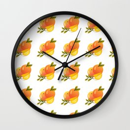 Fruit Series: Oranges version 2 Wall Clock