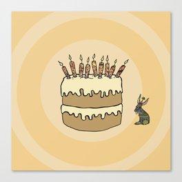 RABBIT CAKE Canvas Print