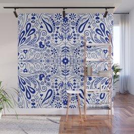 Chinoiserie Folk Seamless Pattern Wall Mural