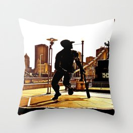 Roberto's Shadow Lives In Roberto's City Throw Pillow