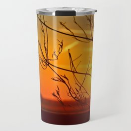 Sunset through the bushes Travel Mug