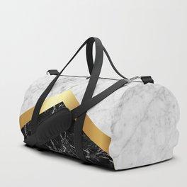 Arrows - White Marble, Gold & Black Granite #147 Duffle Bag