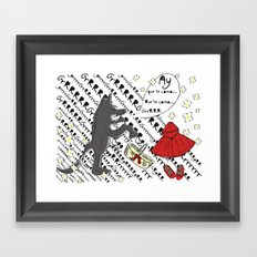 Little Red Riding Hood by Piarei Framed Art Print