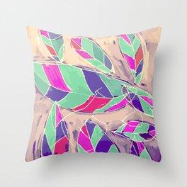 Lovely Leaves Drifting Down Throw Pillow