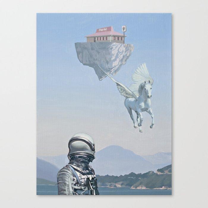 Floating Island Pizza Hut Canvas Print