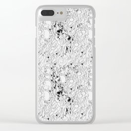 omega pattern Clear iPhone Case