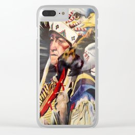 Chief Eagle's Coup Clear iPhone Case