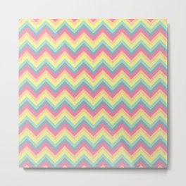 Summer Chevron Metal Print