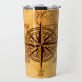 Antique Style Compass Rose Travel Mug