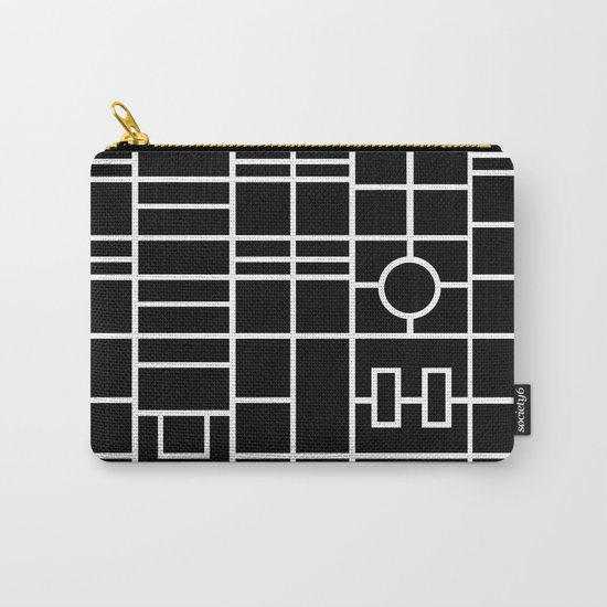 Map With Roundabout Carry-All Pouch