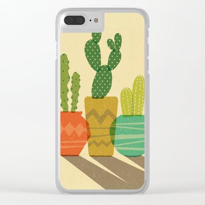 Cactus Trio Clear iPhone Case