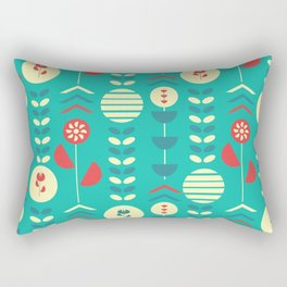 Happy modern floral decoration Rectangular Pillow