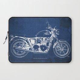 2010 Triumph Bonneville SE, motorcycle blueprint, husbands gift, offer, original poster, fathers day Laptop Sleeve