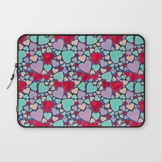 Sweet hearts mosaic pattern Laptop Sleeve