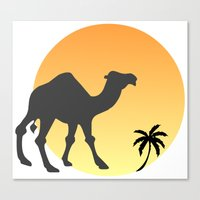 camel Canvas Prints featuring Camel by Geni