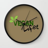 vegan Wall Clocks featuring Vegan Life by UMe Images