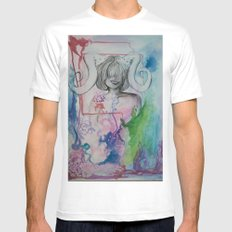 inspirations White MEDIUM Mens Fitted Tee