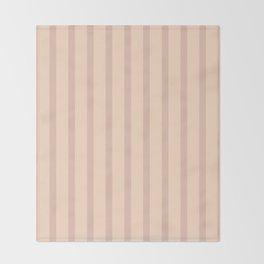 Nude Stripes Throw Blanket
