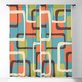 Mid Century Modern Overlapping Squares Pattern 141 Blackout Curtain