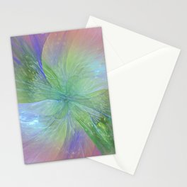 Mystic Warmth Abstract Fractal Stationery Cards