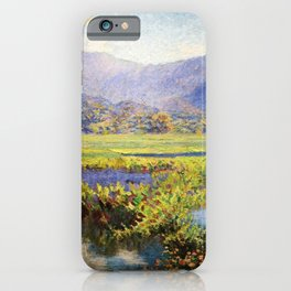 Manoa, Hawaiian landscape painting by Anna Woodward iPhone Case