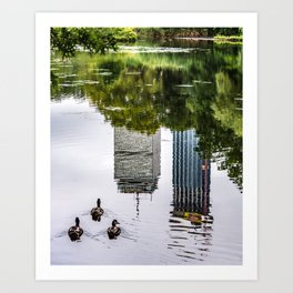 Boston Reflections Art Print