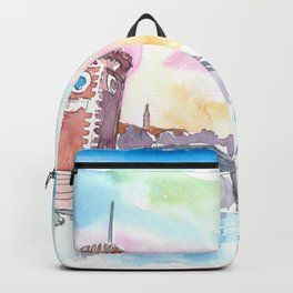 Venice Arsenal Gate at warm Sunset Backpack