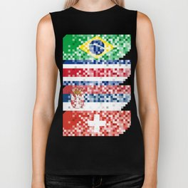 Abstract composition of the flags of national sports teams Biker Tank