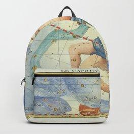 Vintage Print - J Flamsteed - Atlas Celeste (1776) - Capricorn & Aquarius Backpack