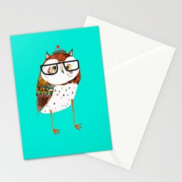 Cool Owl by Ashley Percival. Stationery Cards