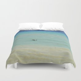 boats against the current (revisited) Duvet Cover