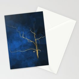 Kintsugi Electric Blue #blue #gold #kintsugi #japan #marble #watercolor #abstract Stationery Cards