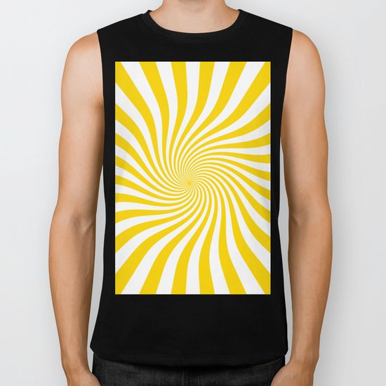 Swirl (Gold/White) Biker Tank